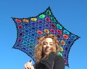 Lacy Daisy Crochet Parasol