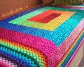 Full Spectrum Granny Square Crochet Blanket