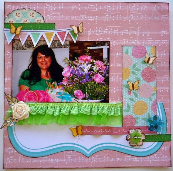 SALE/ In Bloom 12x12 PreMade Page