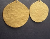Tangiers Earring - Hammered Brass Earring