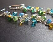 Diva Earring - Swarovski Crystal Dangle Earrings - Lagoon