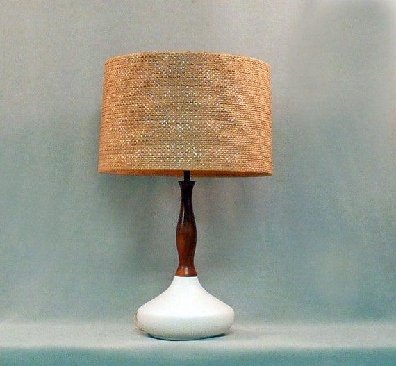 Vintage Table Lamp White Ceramic By Lisevintagelighting On