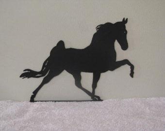 Walking Horse Small Mailbox Topper Metal Yard Farm Art Silhouette