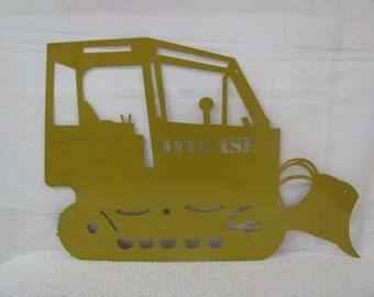 Bulldozer Silhouette Metal Wall Yard  Art