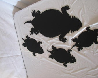 Horn Toad Family Metal Wall Art Silhouette Western
