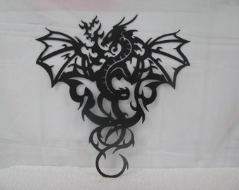 Dragon 002 Metal Wall Yard Art Silhouette