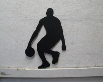 Basketball Player 004 Metal Sports Wall Art Silhouette