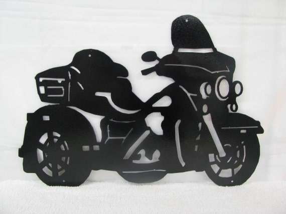 motorcycle 10 silhouette metal wall art. Black Bedroom Furniture Sets. Home Design Ideas