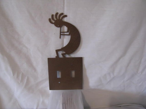 Kokopelli Light Switch Cover Set Of 2 Metal Wall Art