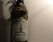 Primitive Style Halloween WITCH SPELL POTION Bottle Protection