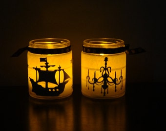 SALE Halloween candle holders choose your design