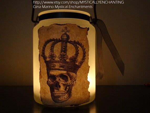 Halloween Lantern Luminary Skull