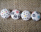 Dotty Butterflies - Set of 4 Fabric Covered Buttons