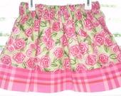 Clearance Sale Girls Skirt Spring Roses