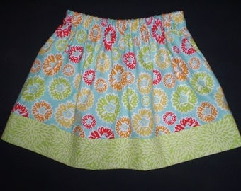 Girls Skirt Green Springs Floral
