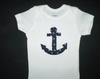 Anchors Away ... Nautical Onesie