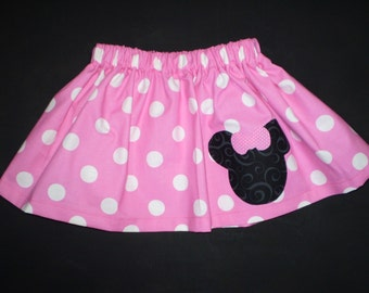 Pink Minnie Mouse Twirl Skirt Sizes