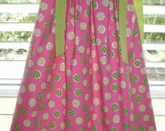 Girls Pillowcase Dress Pink Peppermint  CLEARANCE SALE was 24.00 now 16.00