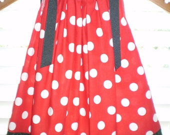 Girls Pillowcase Dress Red Minnie Mouse