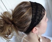 Black dot swiss headband