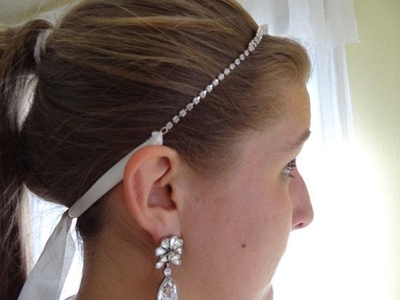 wedding rhinestone headband, rhinestone headband, wedding headband