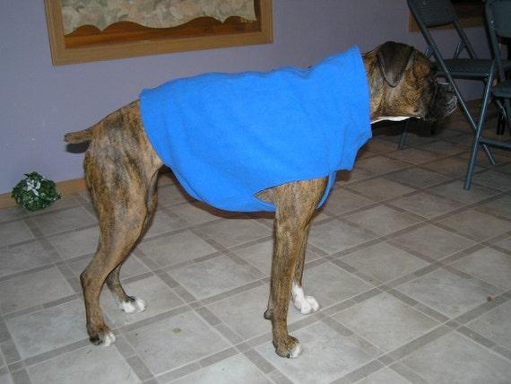 Custom Made Boxer Dog Fleece Jacket