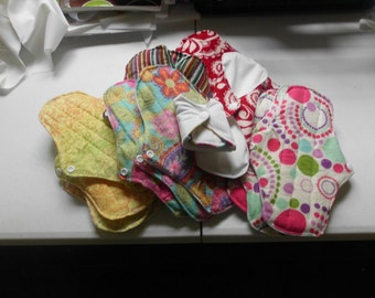 9 inch flannel,PUL mama pads,mama cloth, set of 20