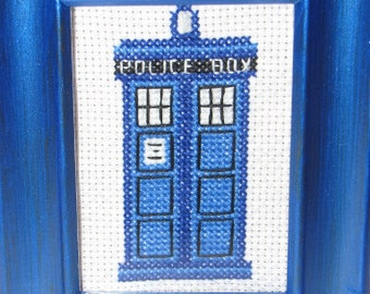 Doctor Who TARDIS Cross Stitch Pattern