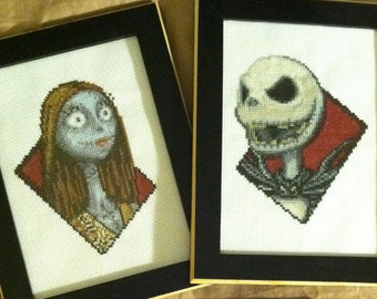 Jack Skellington and Sally Cross Stitch Patterns SET OF TWO