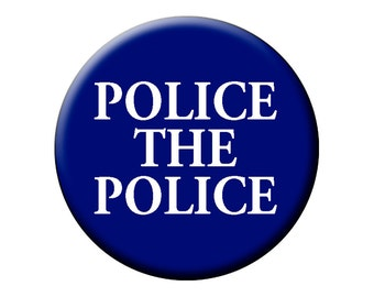 POLICE THE POLICE Pin - Large Pin Back Button - 2.25 Inch Pin Badge
