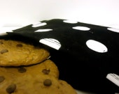 Reusable Eco Friendly Snack Bag - Black with White Polka Dots -