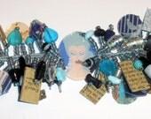 Erte Inspired Art Deco Bangle Bracelet