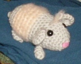 crocheted guinea pig toy