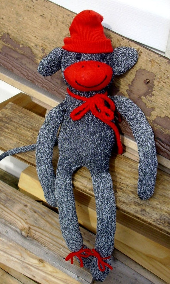 Traditional Sock Monkey toy