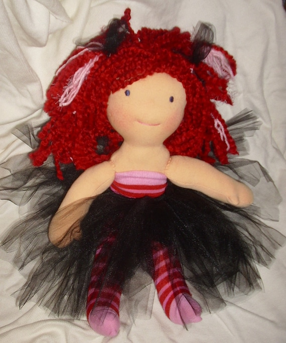15 inch wool Waldorf doll with ballet skirt