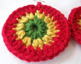 Rasta Crochet Earrings - Carribean Vibes