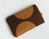 iPod case iPhone sleeve protection brown felt