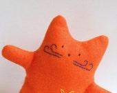 Orange cat plush  -  kitty cat  doll designer plush