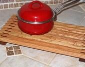 Long Kitchen Trivet - Solid Oak and Mesquite
