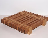 Small Kitchen Trivet - Solid Oak and Ash