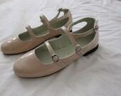 Chloe leather triple strap flats