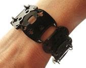 Controller bracelet - black with black rings