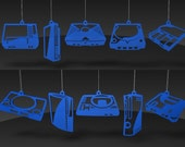 Video Game Console ornaments - Blue acrylic