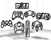 Video Game Controller ornaments - Black acrylic