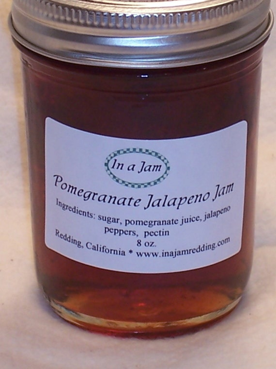 Pomegranate Chipotle Jelly by InAJam on Etsy