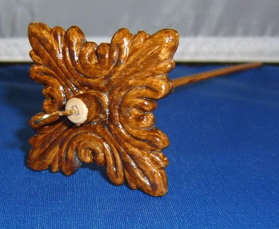 Lightweight Carved Wood Drop Spindles