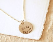 LITTLE ONE NECKLACE .  Sterling Silver Mother's Necklace . personalized necklace