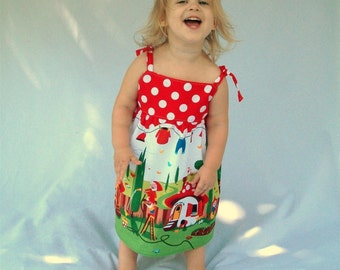 Gnomeville Toddler Dress - 12m, 18m, 2T, 3T, 4T