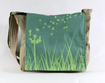 Dandelion Messenger Bag - Original Fabric Design