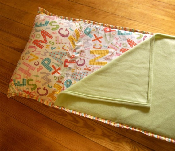 Deluxe Alphabet Kindermat Cover with Blanket, Elastic, and Handle